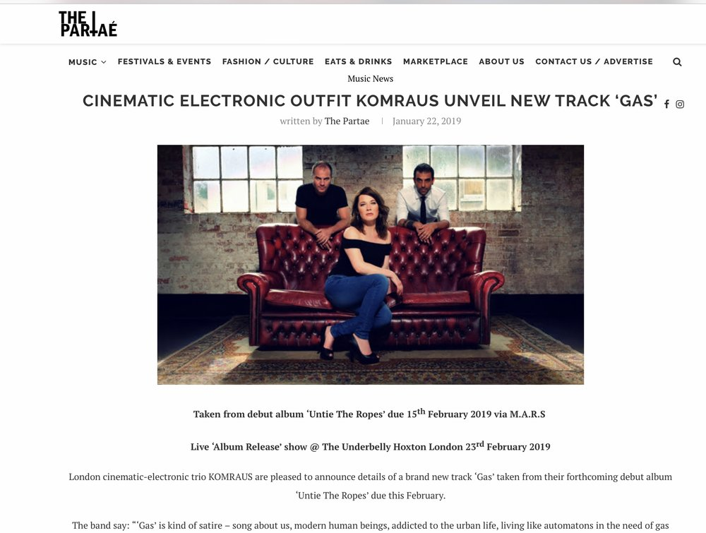 THE PARTAE Mag REVIEW on 'Gas', new song -