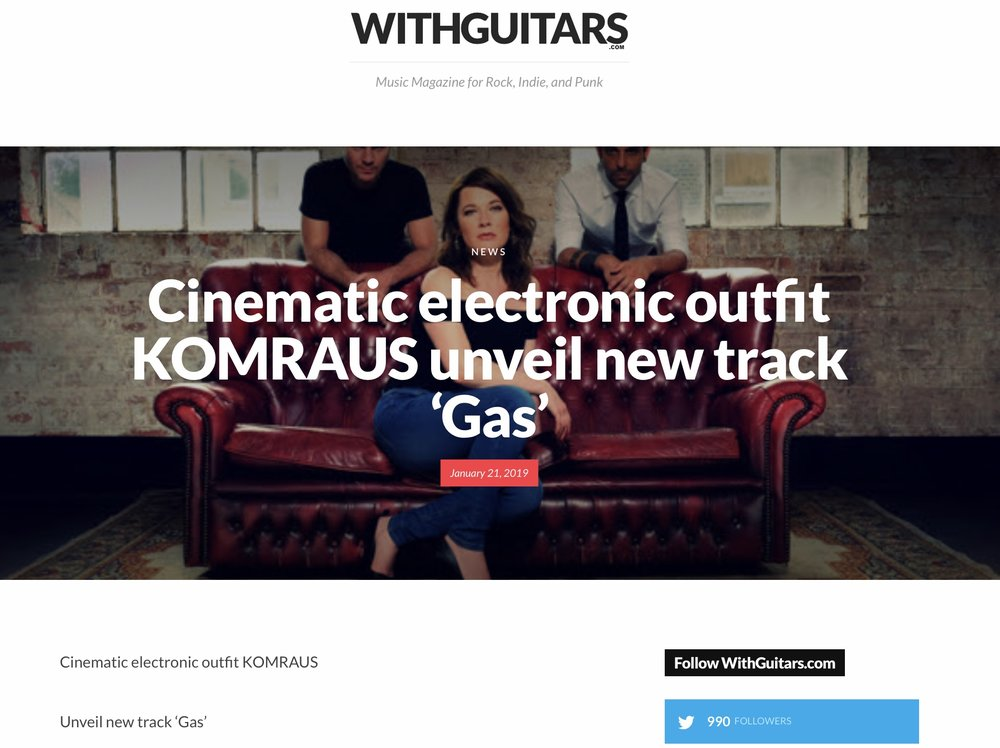 WITH GUITARS Mag on 'Gas', new track -
