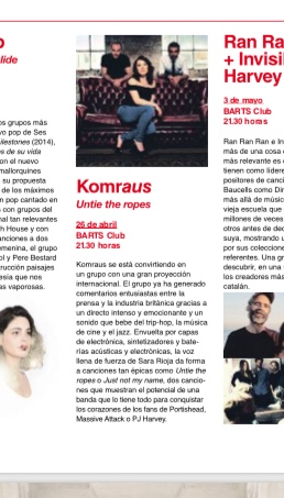 LA VANGUARDIA Newspaper featuring KOMRAUS show in Barcelona -