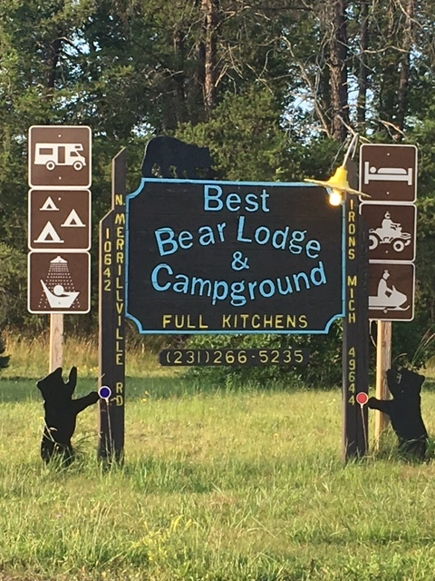 Best Bear Lodge & Campground  www.bestbearlodge.com   231-266-5235