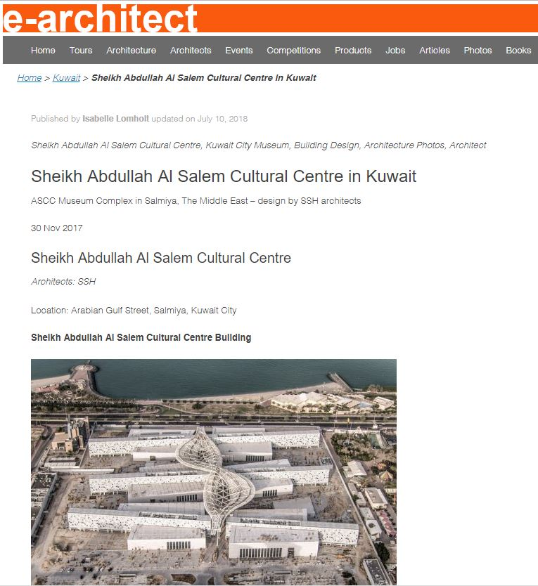 E-architect     Sheikh Abdullah Al Salem Cultural Centre in Kuwait