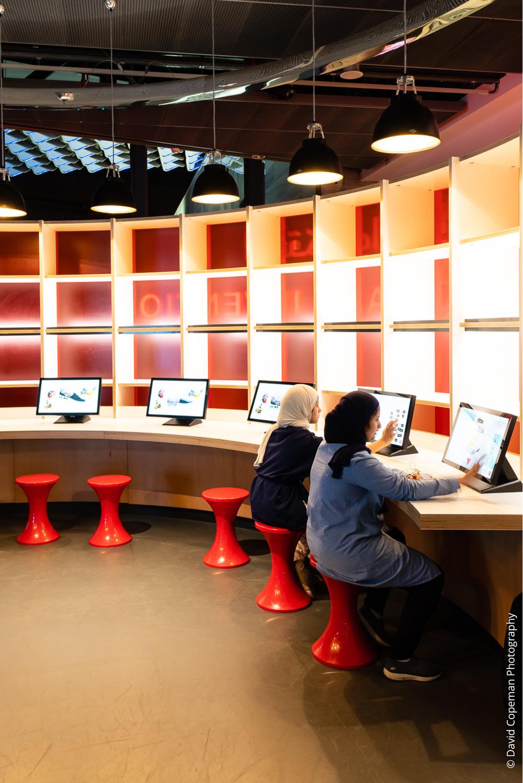 Sheikh Abdullah Al Salem Cultural Centre Innovate gallery © David Copeman Photography