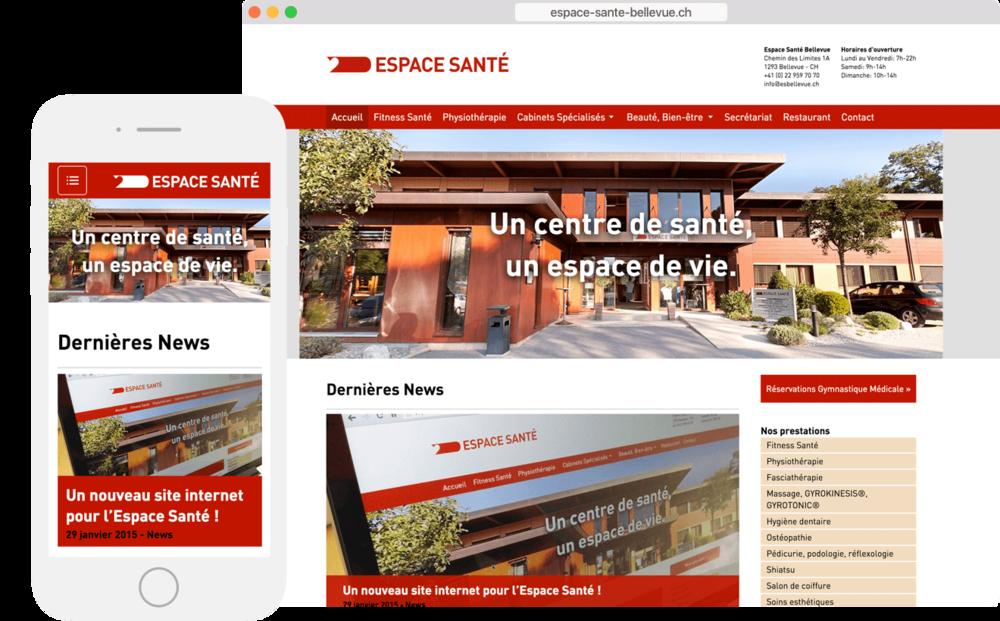 Illustration du site web Espace Santé