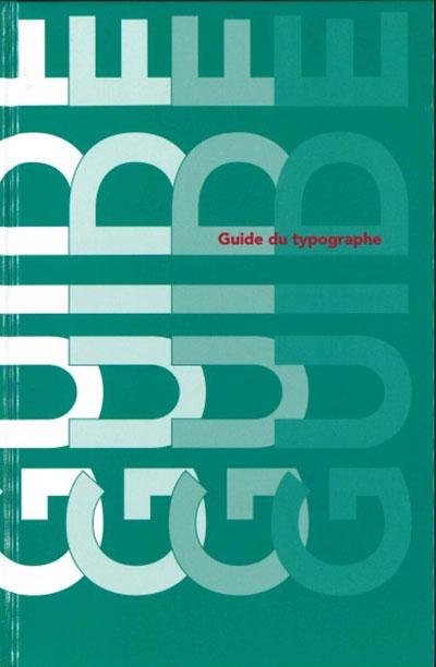 Couverture du guide du Typographe.