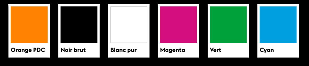 Palette de couleurs.