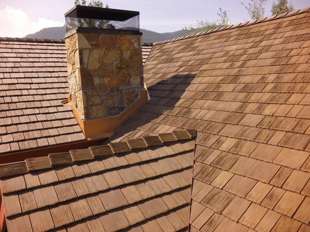 beauitful cedur roofsynthetic composite polyurethane materialJPG