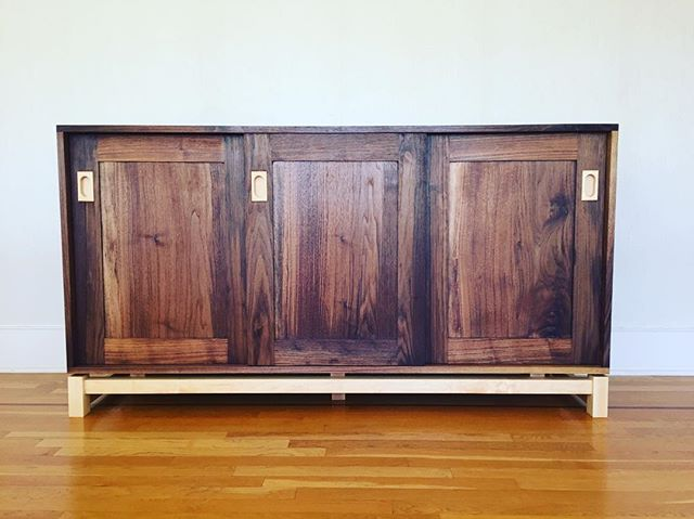 #Walnut and #maple #sideboard.  #woodworking #furniture