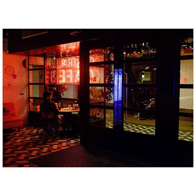 Inside and Out.  #nightphotography #fujiframez #fujix100t #london #neon #colour #color #streetphotography #ifyouleave