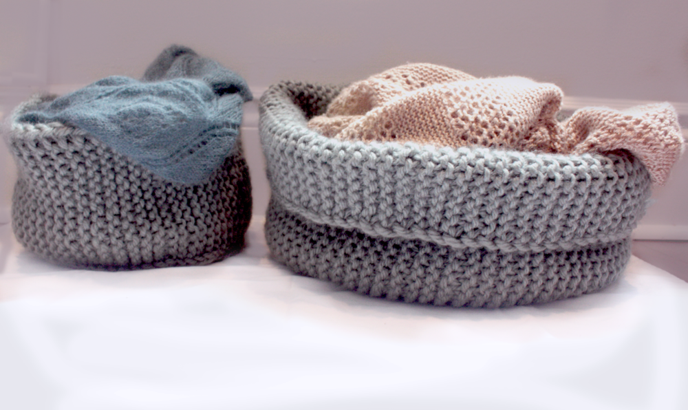 Knitted Yarn Basket Evil Olive Knits