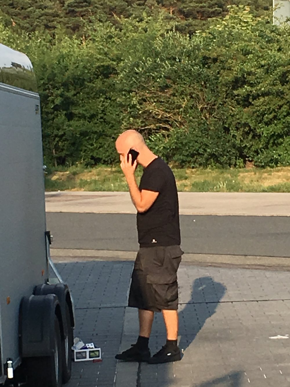 Shout out to our driver Art. Here he is frantically trying to figure out what to do at a rest area in Germany. I'm sure he's happy to be away from us.