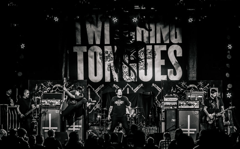 Twitching Tongues on tour 2018.