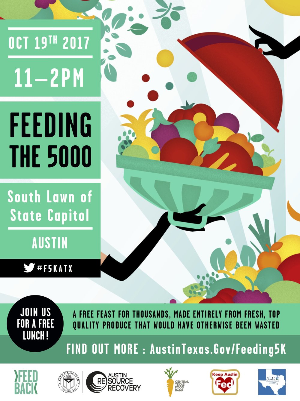 Feed 5000 people. - Austin will take food that would have otherwise gone to the landfill and serve a delicious, communal feast for 5000 people. Fresh Chefs apprentices will work with the team at Bonneville to prepare the feast!