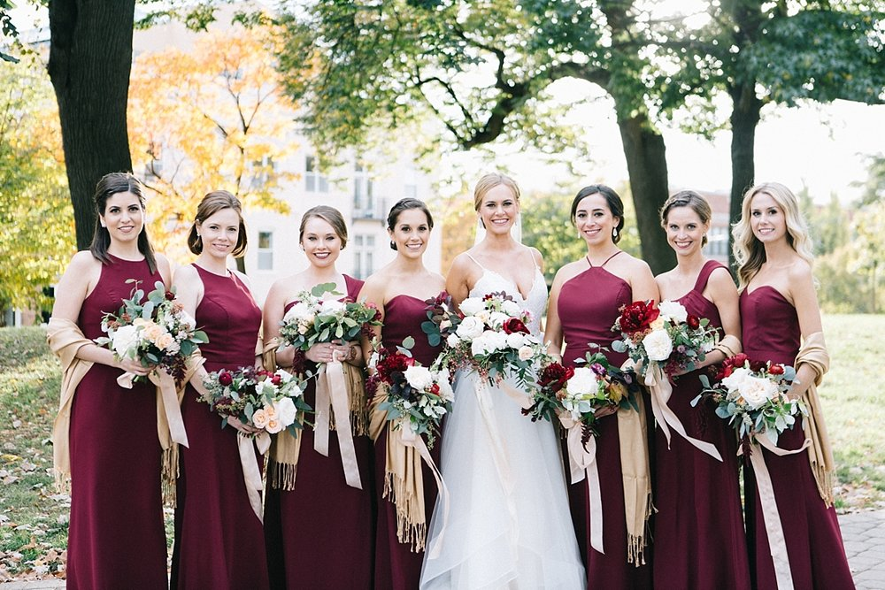 Marryland Weddings Modern Fall American Visionary Arts Museum Burgundy Gold Sarah Murray Photography_0852.jpg