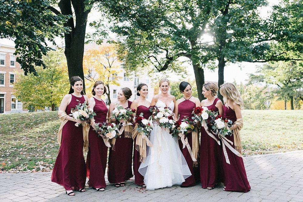 Marryland Weddings Modern Fall American Visionary Arts Museum Burgundy Gold Sarah Murray Photography_0856.jpg