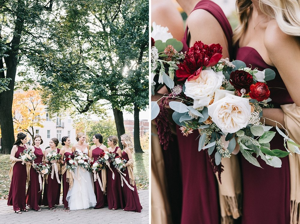 Marryland Weddings Modern Fall American Visionary Arts Museum Burgundy Gold Sarah Murray Photography_0859.jpg