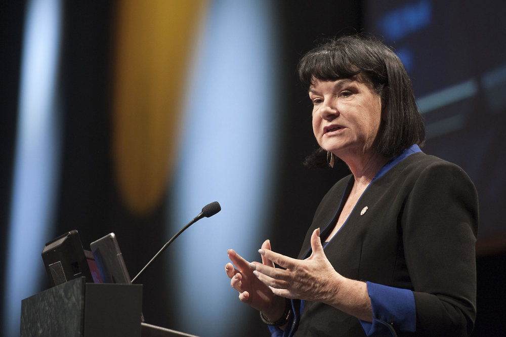 Sharan burrow: - General Secretary of the International Trade Union Confederation