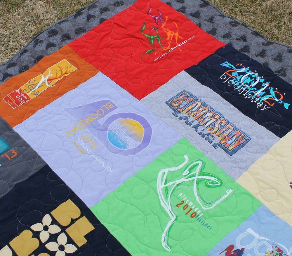 Bloomsday T-Shirt Quilt by Katie Mae Quilts