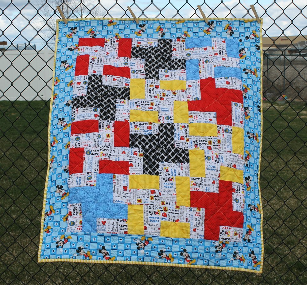 Mickey Mouse Baby Quilt