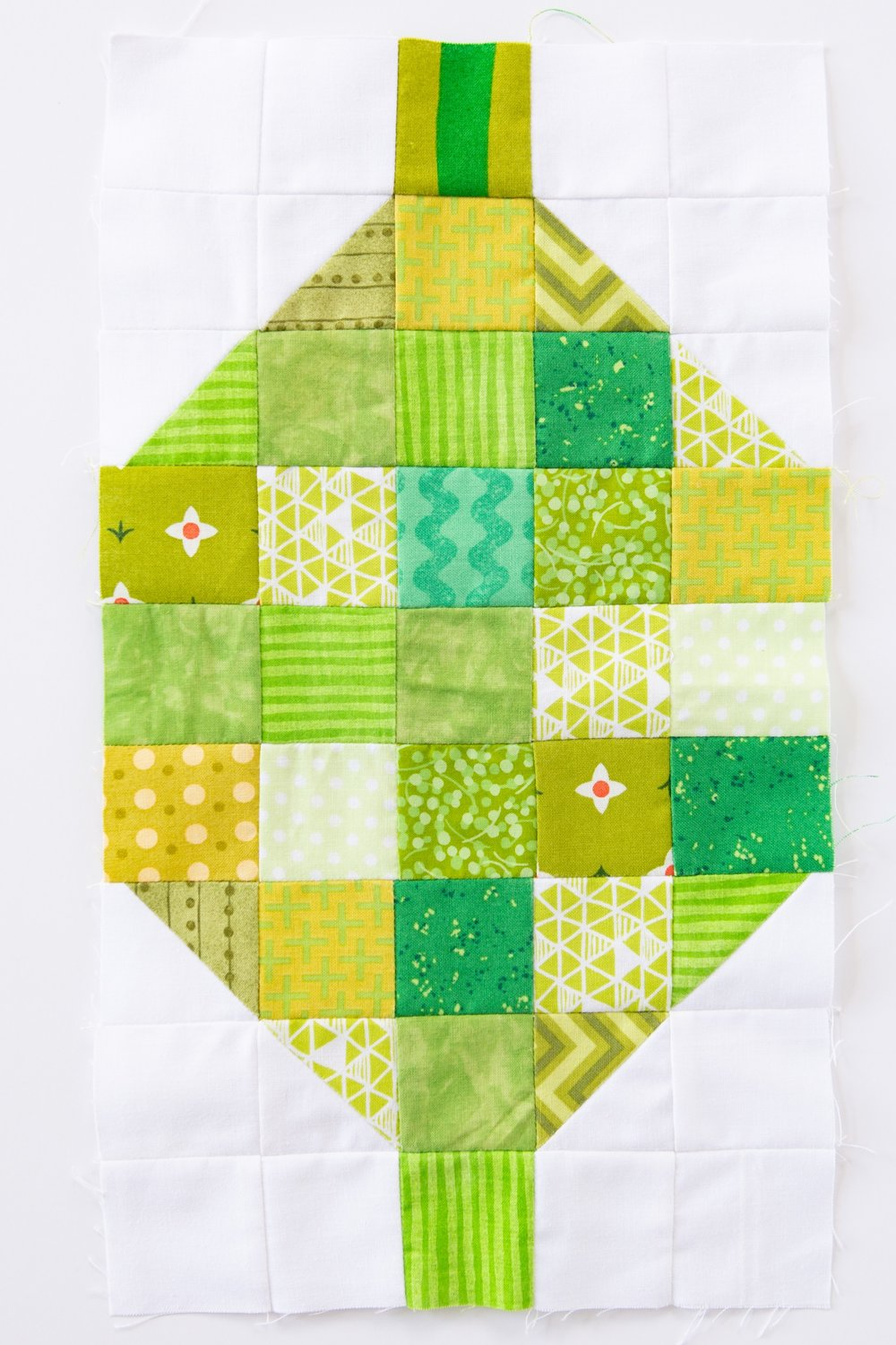 Scrappy Lime Quilt Block