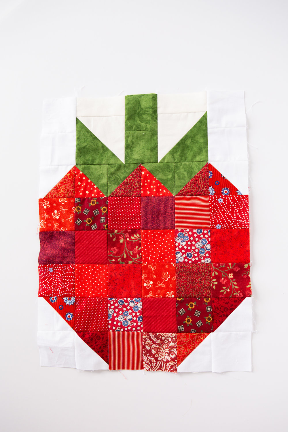 Strawberry Fields Forever - A Fruit Salad Block by Katie Mae Quilts