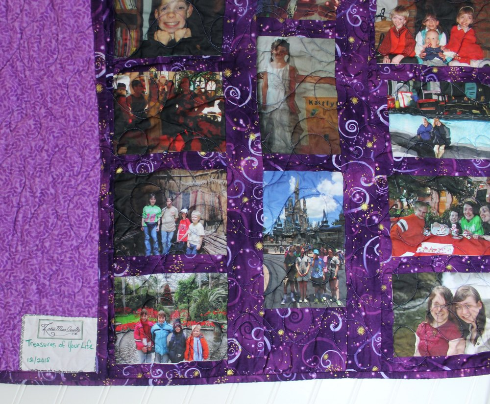 Treasures of Your Life - a Memory Quilt by Katie Mae Quilts