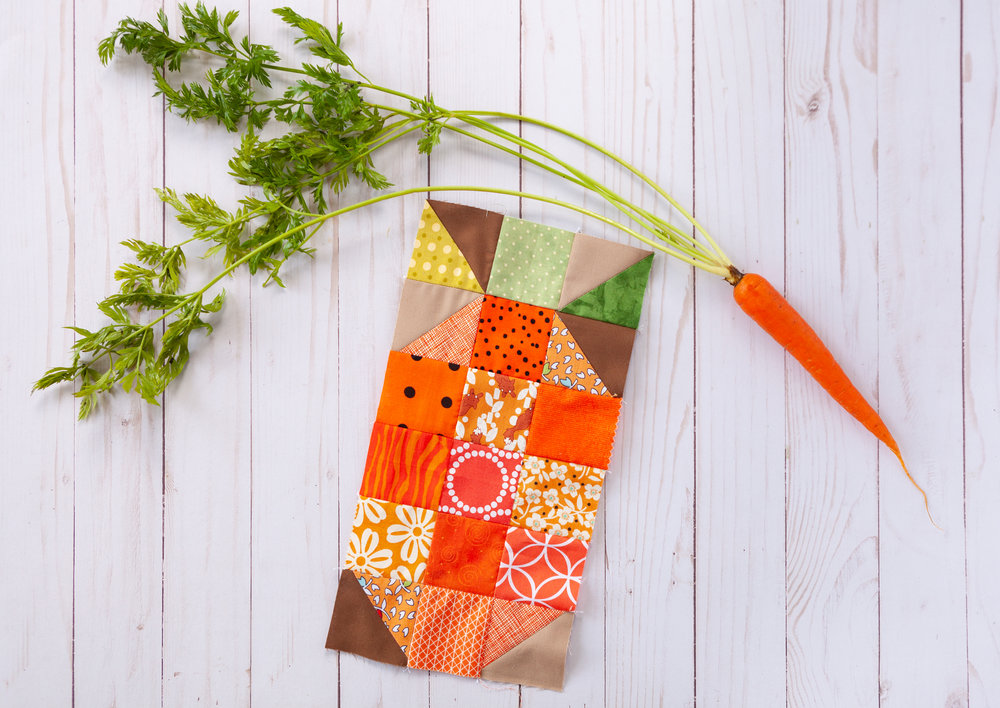 Veggie Patch Carrot by Katie Mae Quilts