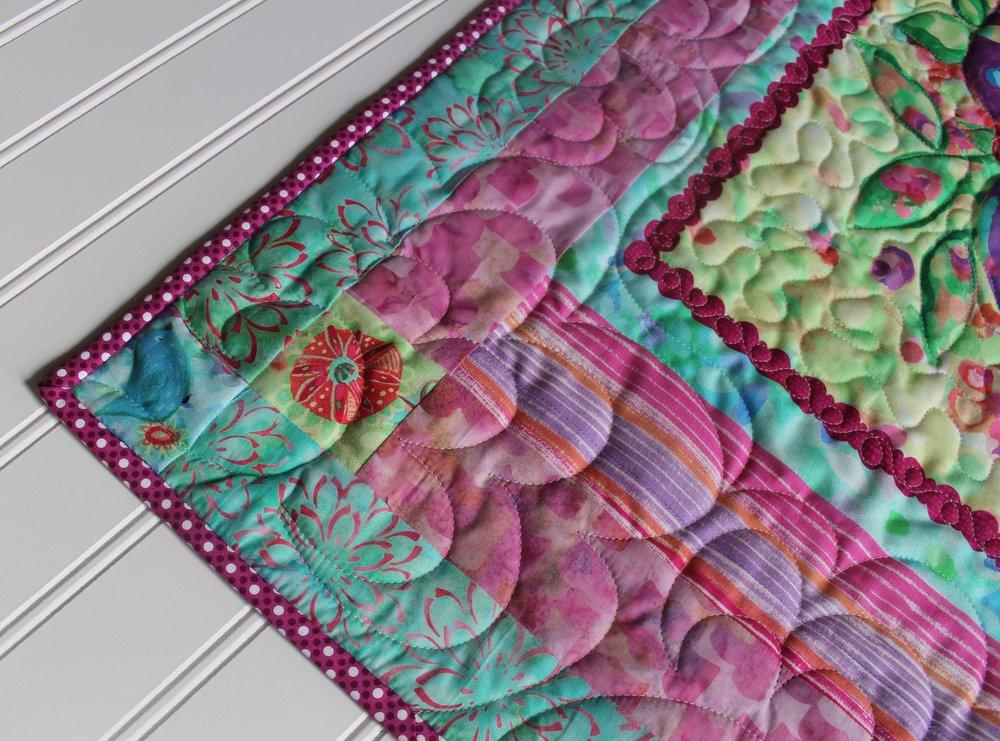 Floral Vase Mini Quilt by Katie Mae Quilts