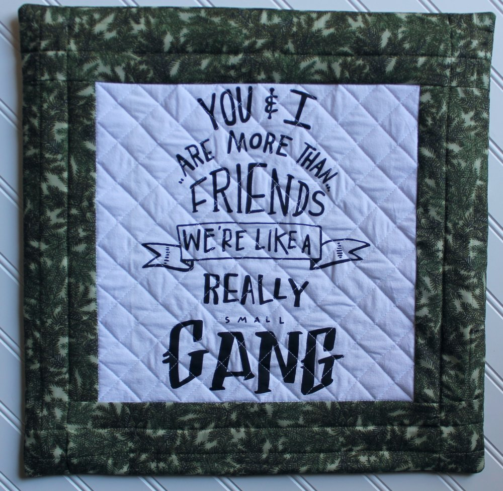 Small Gang Pillow by Katie Mae Quilts
