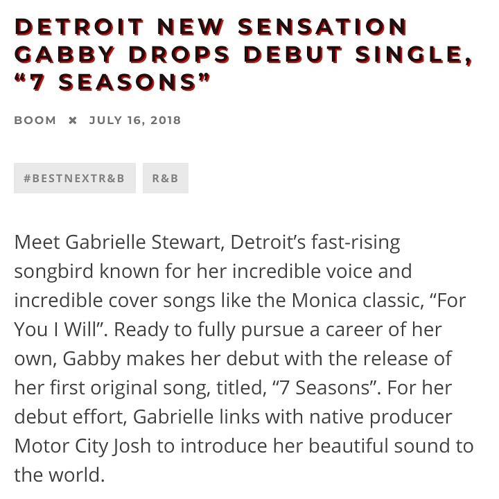 Gabrielle Stewart - R&B