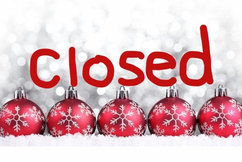 Closed For Christmas.Closed For Christmas Weekend Learn For A Lifetime