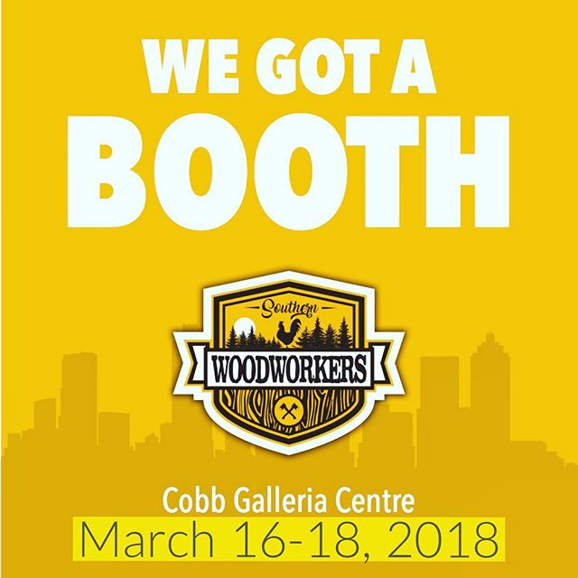 For those of you living under a rock...we have a booth this coming weekend @thewoodworkingshows here in Atlanta.  And by booth, I mean MASSIVE 10x60 space.  Places to sit and socialize.  Sticker swaps. Teardrop trailers.  Tons of awesome member creations.  Scheduled talks with some of your favorite woodworkers (including me!), and of course GIVEAWAYS. . . Who is going to be there this weekend hanging out with several thousand of our closest friends?! #southernwoodworkers #woodworkingcommunity #buildingcommunity #woodworking #community #woodworkersofinstagram #maker #makersmovement