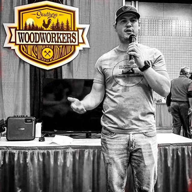 Sometimes, you just gotta drop some knowledge about #buildingcommunity so the whole world knows how awesome this #woodworking and #maker community really is.  Had some amazing talks this weekend at #awws18 about how we built the community, what is in the future pipeline, and what benefits we offer when you're a @southernwoodworkers.  Thanks @themakersworkbench for the solid photo, and thanks Brad @fixthisbuildthat for the coaching on preparing to do my first public talk this past weekend. #southernwoodworkers #woodworkersofinstagram #woodworkingcommunity #makersmovement #publicspeaking #conqueringfears #maker