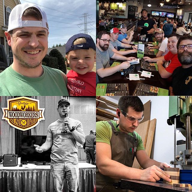 So, I got challenged by my buddy Meghan over @sweetalohadesigns to talk about what motivates me. First and foremost it's family, I mean, I didn't name my business D.I.Wyatt for no reason haha. Second is the community.  Between the online IG community and my @southernwoodworkers family, I've been blown away by how many new best friends I have made over the last year.  And third is the challenges and trying new things.  Whether it's speaking at a woodworking show, trying new techniques, or completing a new type of project for the first time and seeing the finished result.  What motivates you?  I'm gonna keep this ball rolling and challenge @uglyducklingdiy, @kjsawdust, and @southerngingerworkshop you're up! #woodworkersofinstagram #woodworkingcommunity #buildingcommunity #southernwoodworkers #makersmovement #motivation #family