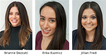 New CRC team member, Brianne, Erika and Jillian