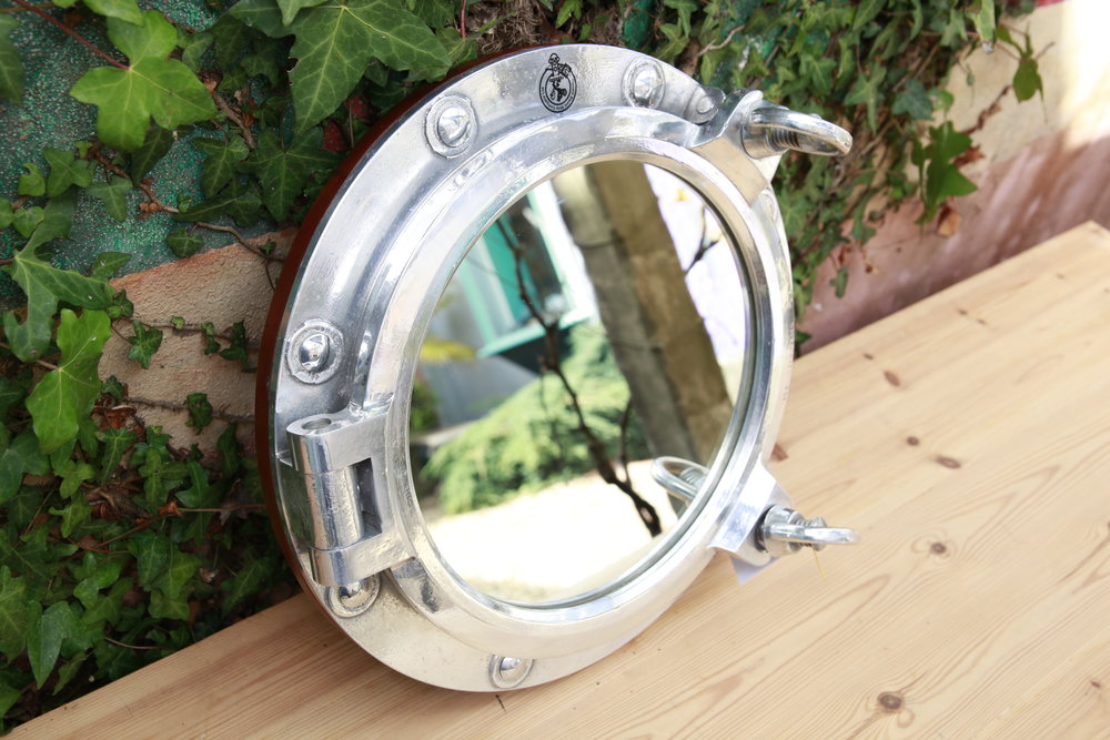 Double Latch Porthole Mirror