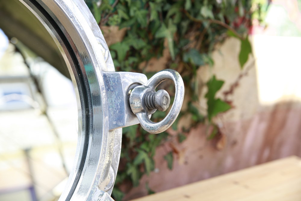 Triple Latch Porthole Mirror