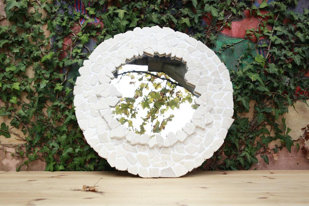 White Stone Circle Mirror