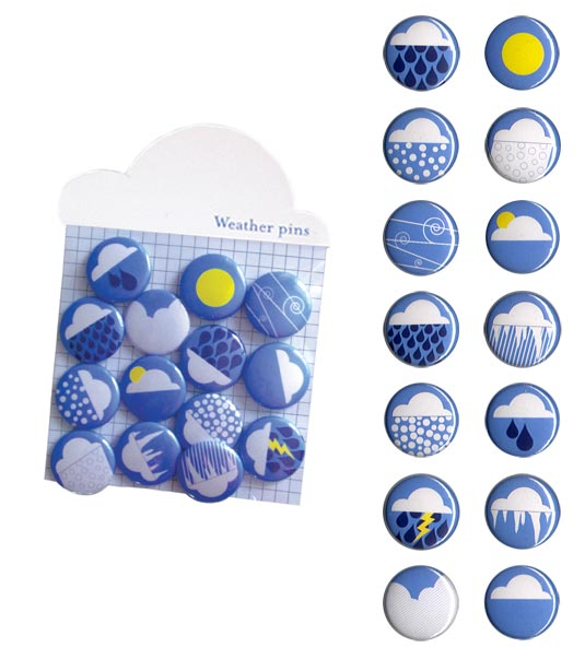 Whats the weather? - Pin set with custom weather icons
