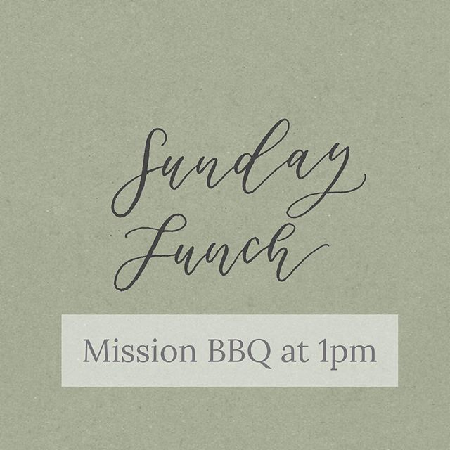 Every once in a while you need some good BBQ with great friends. Both are happing this Sunday at 1pm.  Join your Grove family at Mission BBQ in Brandon for good food and fellowship.