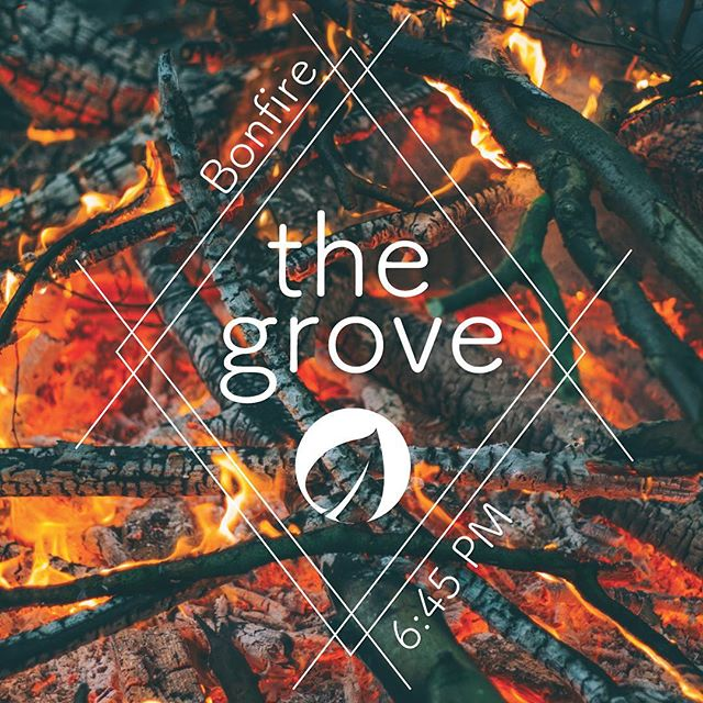 FIRE|FRIENDS|FOOD There's no reason not to come! Join us at The Grove this Sunday!