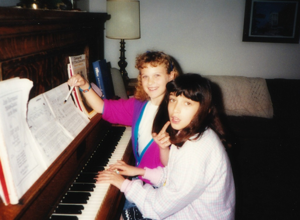 Permed & teaching Allyson piano.