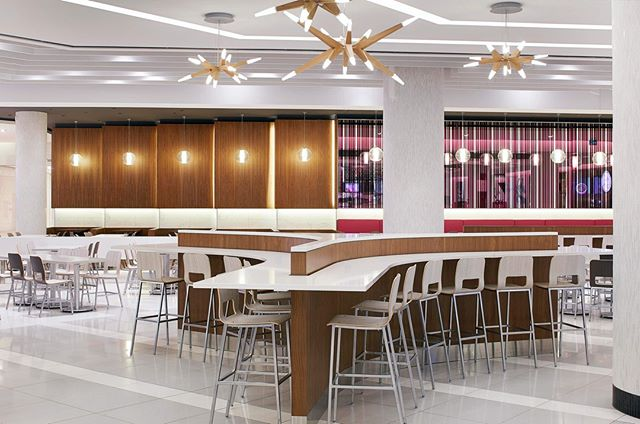 Whether you're designing a 5 star restaurant or a new mall food court, like the one pictured here, @isa_havaseat has seating options to fit your environment and budget. ⠀⠀⠀⠀⠀⠀⠀⠀⠀ #contractdesign #hospitalitydesign #hospitality #design #designinspiration #interiordesign #customseating #lasvegasdesign #lasvegas #restaurantdesign #restaurantseating #diningchair #chair