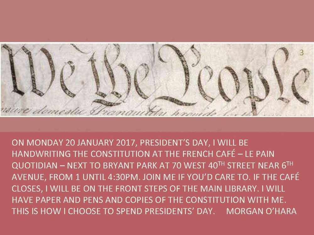 20 february 2017president's daynew york city - with morgan o'hara