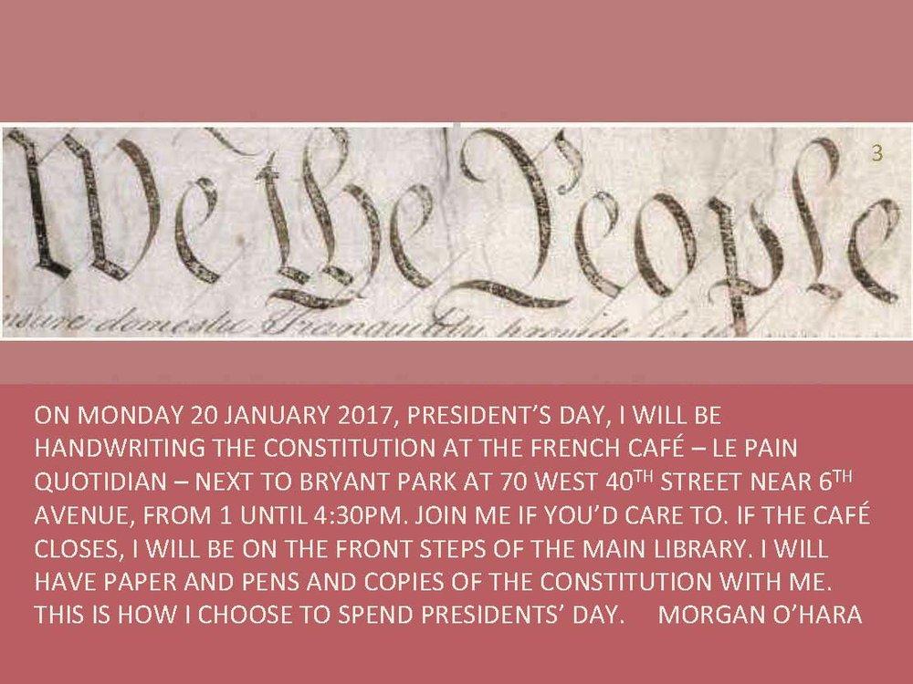 20 february 2017president's daynew york city - with morgan o'hara