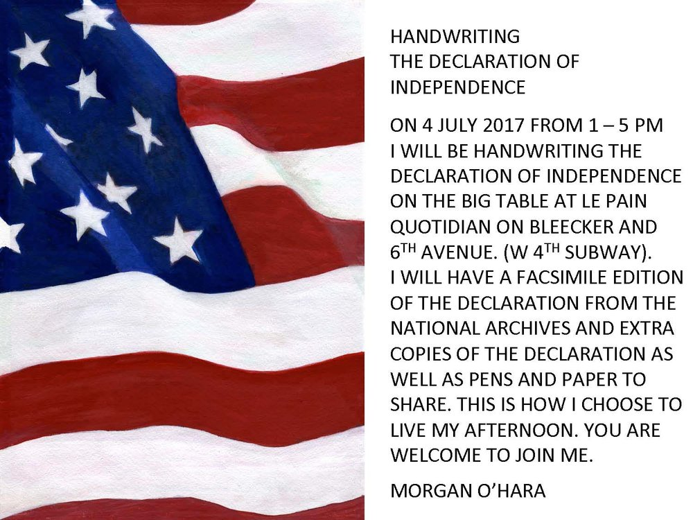 4 july 2017independence daynew york city - with morgan o'hara