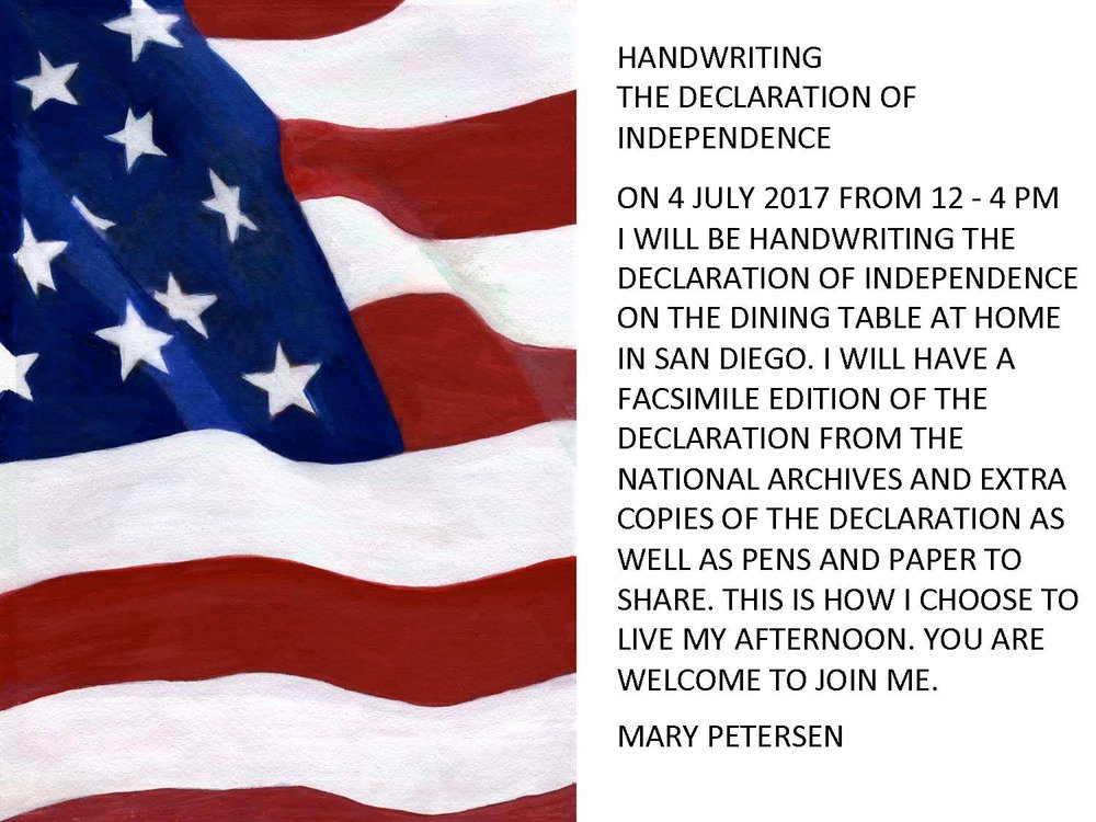 4 july 2017independence daysan diego, Ca - collaborator Mary Reich Peterson
