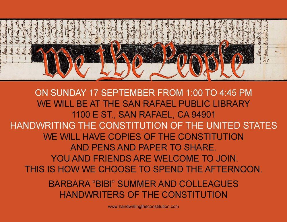 17 september 2017constitution daysan rafael, CA - collaboratorbarbara