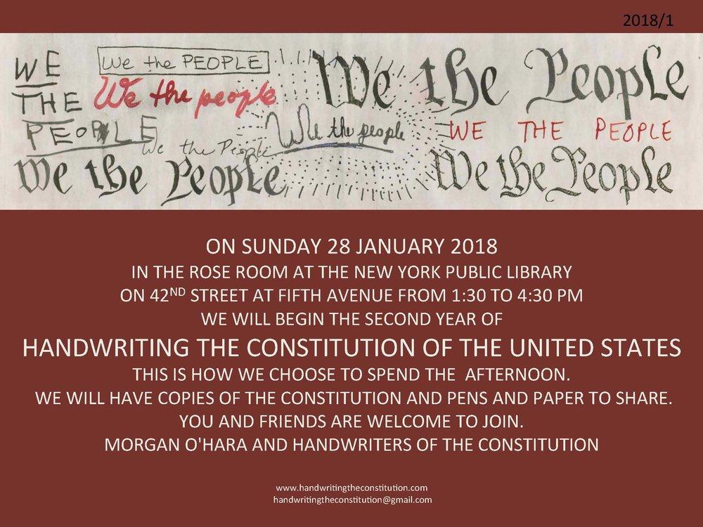 28 JANUARY 2018NEW YORK CITY - WITH MORGAN O'HARA