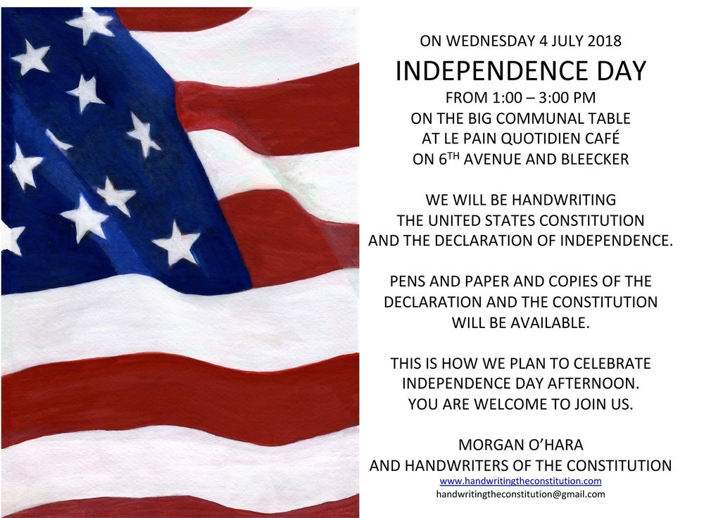 4 JULY 2018independence dayNEW YORK CITY - WITH MORGAN O'HARA