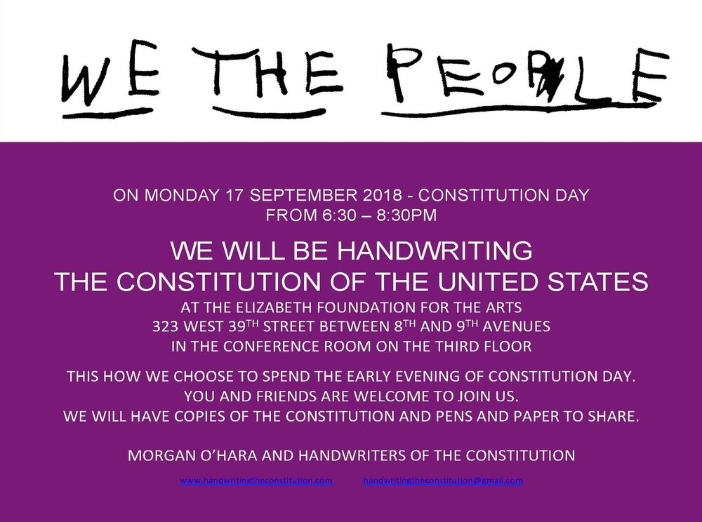 17 September 2018constitution dayNew York City - with morgan o'hara